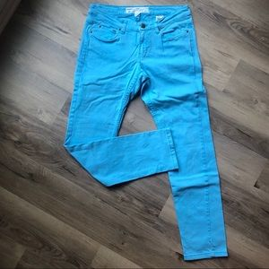 H&M bright blue skinny jeans